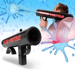Water Mortar ~ this is one serious water balloon bazooka... i wonder what else would work in that as well?