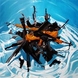 Artist Benjamin Anderson's 'Just Add Water' paintings.