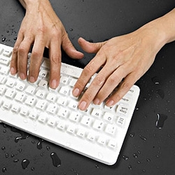 "The ""Really Cool"" Waterproof Keyboard is a water-resistant and contaminant-proof keyboard with tactile feedback keys."
