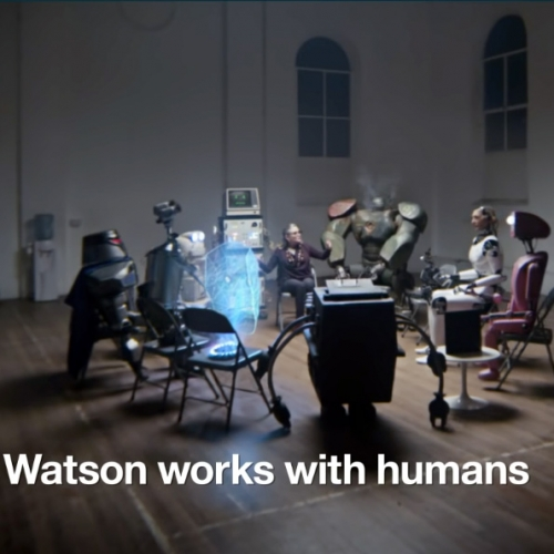 "IBM Watson Robot Adverts - ""Coping with Humans"": A Support Group for Bots. And 1-on-1 therapy sessions with the bots! Featuring Carrie Fisher."