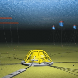 Plans have been approved for the world's first large scale wave farm off the coast of Cornwall, UK. Generating electricity and directly saving 300,000 tonnes of CO2 over 25 years. The future?
