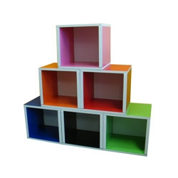 If you like to rearrange your furniture as much as we do, these Six Mix modular cubes are the perfect solution.  Best of all, they are made from recycled zBoards...