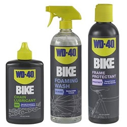 WD-40 diversifies their products with a new BIKE line! From chain lube and frame protector to foaming wash and frame protectant.