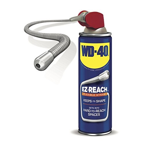 WD-40 EZ-Reach flexible straw. Perfect for those of us who lost the straws regularly or have hard to reach spots. Always amazing how many different uses this has.