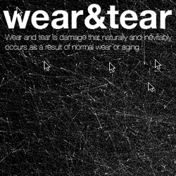 Wear and tear - Experiment simulates a visual representation of the wear and tear of a digital surface over time.