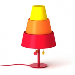 Tripla from 5.5 Designers. They created Tripla to highlight the importance of not wasting energy. A lamp pyramid which proposes 3 variations of lights