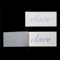 "beautifully original wedding invitation by chris maclean. in his words: ""simply removing the dot from the word claire reveals the word dave proving that they really were meant to be together."""