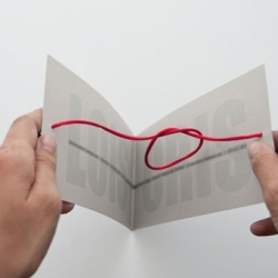 "Awesome wedding invitation literally carries out the phrase ""tying the knot""."