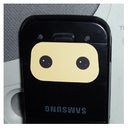 Wee Ninja disguised as my Samsung 900a! [Editor's Note: just goes to a pic, but appeals to our love of the wee ninja]