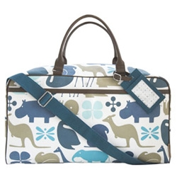 Also from Dwell Studio ~ i love the creatures on their GIO line ~ and this weekender bag is a fun one even for those without kids... (the rest of the accessories are more baby slanted)