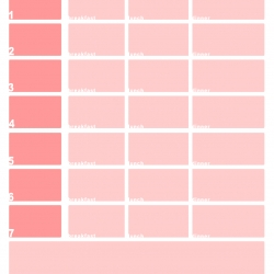 Useful and pretty. Free, down loadable, printable weekly menu maker.