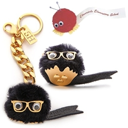 Sophie Hulme Sheep Fur Pom Pom Keychain - nostalgic super luxe throwback to promotional Weepuls (google image search is pretty funny) - too bad they don't have little antenna.