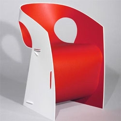 interesting chair...made from a single sheet of plastic.