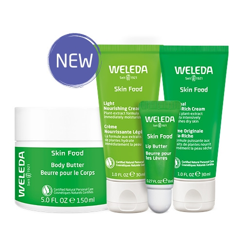 Weleda expands their super popular Skin Food (a NOTCOT fave) into a line of products - from the original cream, to a light version, body butter, and lip butter.