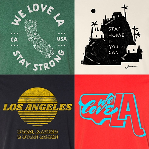 WE LOVE LA is a growing collection of limited edition tshirts supporting LA partners by Family Industries