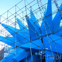 Wendy is coming! If you've been waiting to feast your eyes on HWKN's spiky, blue, pollution-busting installation for MoMA PS1's ever-popular Summer Warm-Up series, here are some sneak peek pics.