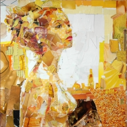 Amazing collage portrait by Derek Gores.