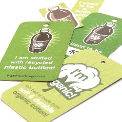 Beautiful tags for West Paw Design's eco-friendly pet beds and toys. They use minimal packaging to help the environment but make a huge splash with the awesome tags.