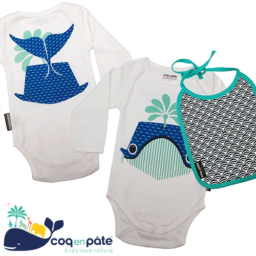 Coq en Pâte - animal illustration themed kids line from France. Fun, playful front and backs of animals on each outfit.