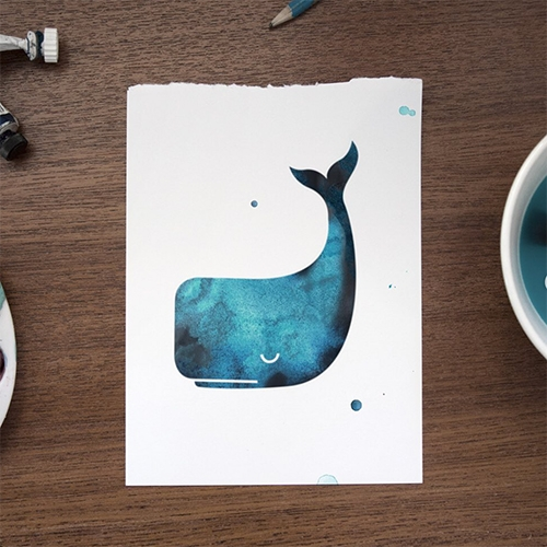 The WHALE CHALLENGE! From Two Thirds... here's one from their Creative Director (and a NOTCOT fave) Emil Kozak.