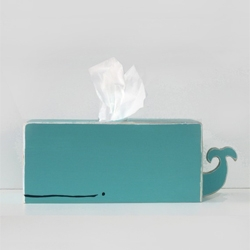 Super cute Whale Tissue holder from gnomesweeeetgnome.