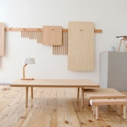 Wooden Peg Furniture is a minimalist design created by Netherlands-based designers StudioGorm. The concept was to provide as many configurations as possible with a set number of pieces, without the use of tools or hardware.