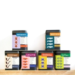 Flora Chan's Prologue Tea Co., a series of tea inspired by classic novels. Designed by Flora Chan.