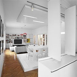 No wonder the architects named this the White Apartment. Located in Romania, by Parasite Studio. Sleek interiors.