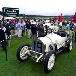 The Mercedes-Benz White Knights were show-stoppers at Concours d'Elegance. The Blitzen-Benz, with out a doubt the grand-daddy of them all, set the landspeed record of 141mph in 1911.