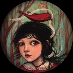 Take a peek at Kelly Vivanco's beautiful paintings. Once you're done, be sure to check out her delightful webcomic: Patches.