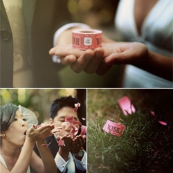 "Oh Max Wanger you come up with the best romantic/everyday concepts and photos ~ love the ""100 Wishes"" roll of tickets for ADELA + RICH in LA"