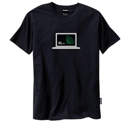 T-shirt that actually serves purpose other than covering your upper torso. This t-shirt detects wifi. Perfect for airport or coffee shop. Can't get any geekier than this.