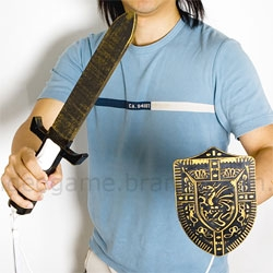 Because your wii zelda experience is not complete without a *real* sword and shield...