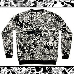 Designer Karl Grandin takes 180 animal-based logo marks and compiles them into a pattern which is then made into a lovely sweater!