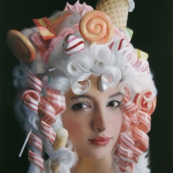 Will Cotton's beautiful female portraits over at Gastronomista.