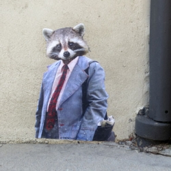 Streetart in Williamsburg - Urban Jungle by Portland-based Artist TVwithCheese.