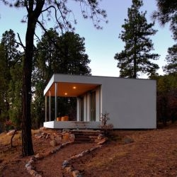 The tiny, minimalist  Williams Cabin by Stephen Atkinson is located in Durango, Colorado.  What more do you need in a modern getaway cabin, seriously?!