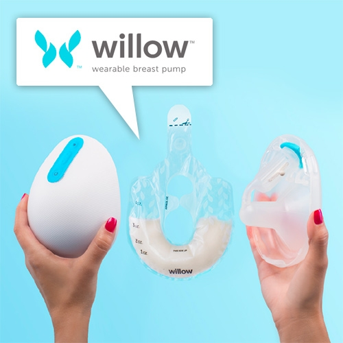 Willow the wearable breast pump has been a surprising stand out at CES. Letting you pump anywhere and anytime, while still doing other things! And of course it has a milk-tracking app as well.