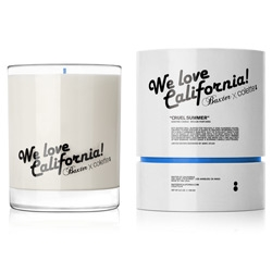 "GIVEAWAY! this new ""We Love California"" Candle (in ""Cruel Summer"" scent) from LA based, Baxter of California, in collaboration with Parisian, Colette, smells like socal ~ check out the unbox, details, and chance to win one!"