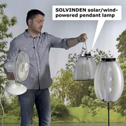 IKEA's new Solvinden Collection for 2012 includes WIND powered outdoor lighting! See designer David Wahl demonstrate them in the video!