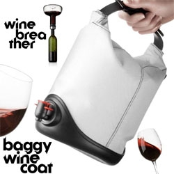 MENU's new 2010 collection has some amazing pieces that change the way you interact with wine ~ in particular loving the Wine Rebreather Carafe and the Baggy Wine Coat ~ see the details of how they work!