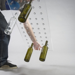 Wine Table by Revol Design. A great way to recycle and display wine bottles.