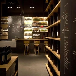 The Wine Bar Torres, designed by Estudi Arola, is a great place to enjoy the wine of the world famous Torres Wine Cellars.