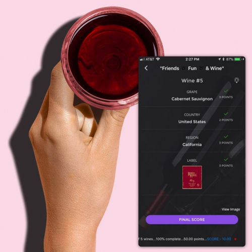 Wine Game! An app to turn blind wine tasting with friends into a fun game. Pick a few bottles, have one person scan the labels and cover them, send friends the code to join the game, start tasting, and see how well you know your wines.