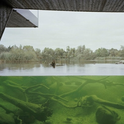 The nature discovery center Mueritzeum presents the region around the German lake Mueritz. The main attraction is an 8 metres wide and 3 metres high panel that gives the visitors the chance to have a direct view into the lake.