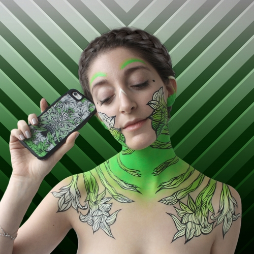 "Wini Greeni's ""phone casesss"" - beautiful project where phone cases meet tattoos..."