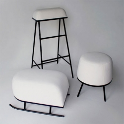 The Winter Arrives Stools by outofstock reminds us of layers of fresh snow on stools left outdoors when we wake up on a winter's morning... Have a Merry Christmas everyone!