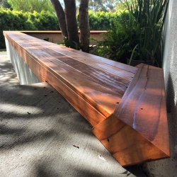 The latest NOTlabs project in progress - redwood rolling gate and bench/top to our large triangle planter... as well as a few new tools and a garage shop update!