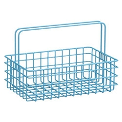 Cute wire caddy's at Crate and Barrel in turquoise, red, and white