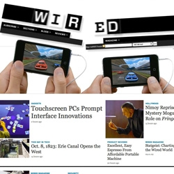 Apple has taken over Wired.com with a new iPod Touch ad and some really impressive Flash work. Check it out before it's gone.